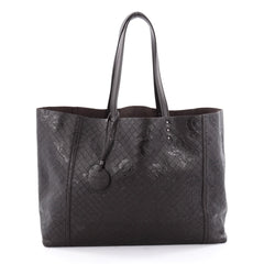 Bottega Veneta Tote Butterfly Embossed Intrecciomirage Intarsio Leather Large Brown 2173703