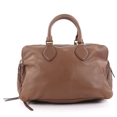 Celine Triptyque Handbag Smooth Leather Medium Brown 2173704