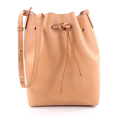 Mansur Gavriel Bucket Bag Leather Large Brown 2174304