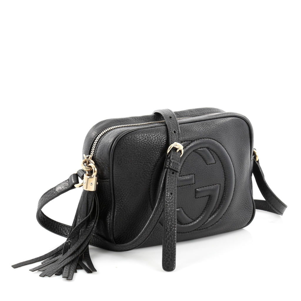 84d7905b4c4680 Buy Gucci Soho Disco Crossbody Leather Small Black 2174401 – Trendlee