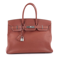 Hermes Candy Birkin Handbag Epsom 35 Orange 2174502