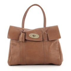 Mulberry Bayswater Satchel Leather Medium Brown 2177902