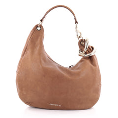 Jimmy Choo Solar Hobo Leather Large Brown 2178001