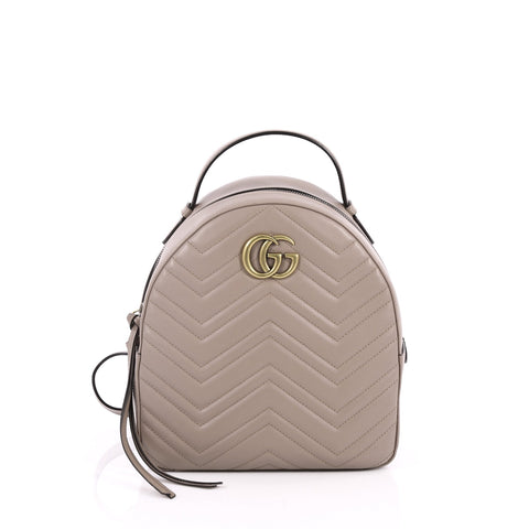 174eb913b9e5 Buy Gucci GG Marmont Backpack Matelasse Leather Small 2179201 – Rebag