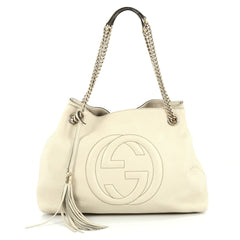 Gucci Soho Shoulder Bag Chain Strap Leather Medium neutral 2180501