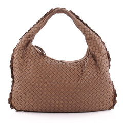Bottega Veneta Veneta Hobo Perforated Intrecciato Nappa Medium Brown 2182903