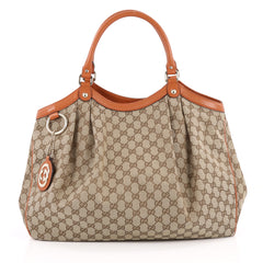 Gucci Sukey Tote GG Canvas Large Brown 2184202