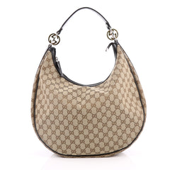 Gucci Twins Hobo GG Canvas Large Brown 2185301