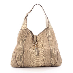 Gucci Jackie O Handbag Python Large Neutral 2188501
