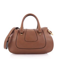 Chloe Hayley Satchel Leather Medium Brown