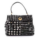 Saint Laurent Muse Two Handbag Tweed Medium Black