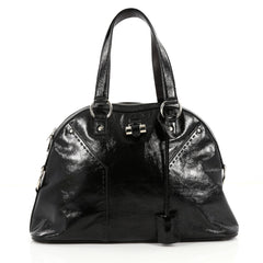 Saint Laurent Muse Shoulder Bag Patent Medium Black 2192401