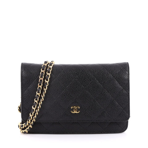 0d194f308894aa Buy Chanel Wallet on Chain Quilted Caviar Black 2193401 – Rebag