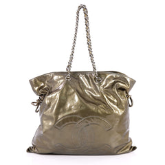 Chanel Bon Bon Tote Patent Large Green