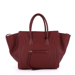 Celine Phantom Handbag Smooth Leather Medium Red 2198701