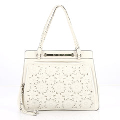Valentino Demetra Tote Leather Lace White 2199002