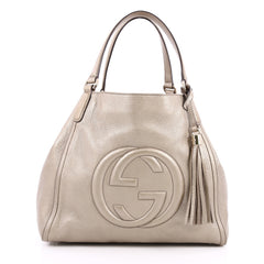 Gucci Soho Shoulder Bag Leather Medium Gold 2199701