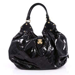 Louis Vuitton XL Hobo Surya Leather Black