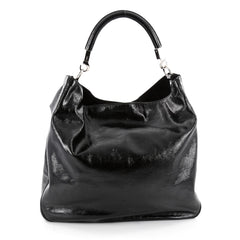 Saint Laurent Roady Hobo Patent Large Black