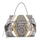 Tod's Convertible Wave Bag Python Small Gray 2203801