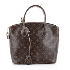Louis Vuitton Lockit Handbag Monogram Fetish Canvas Brown