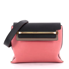 Chloe Tricolor Clare Shoulder Bag Leather Medium Pink 2204702