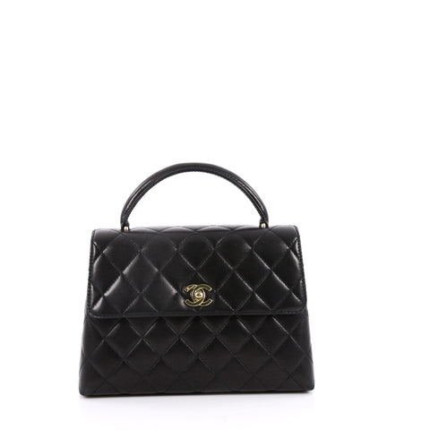 79f5e99d28d1 Buy Chanel Vintage Classic Top Handle Flap Bag Quilted 2205401 – Rebag