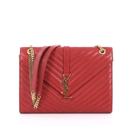 c14e0197d8aa8a Buy Saint Laurent Classic Monogram Satchel Matelasse Chevron 2206801 – Rebag