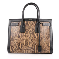 Saint Laurent Sac De Jour Handbag Python Medium Brown 2206802