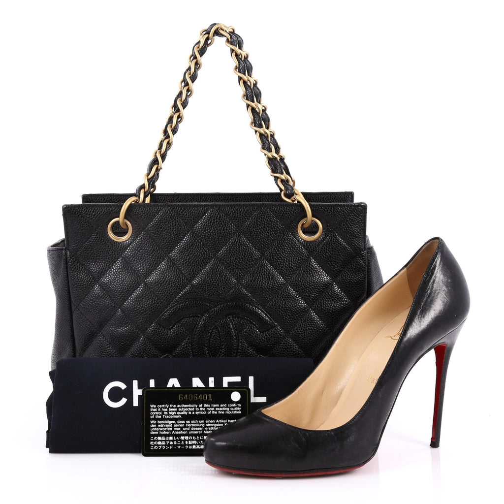 4591702a0d9e Buy Chanel Petite Timeless Tote Quilted Caviar Black 2209902 – Rebag