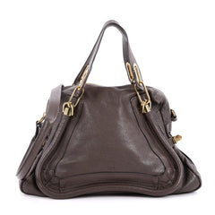 Chloe Paraty Top Handle Bag Leather Medium Brown 2211401