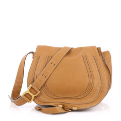 Chloe Marcie Crossbody Bag Leather Medium Brown 2211702