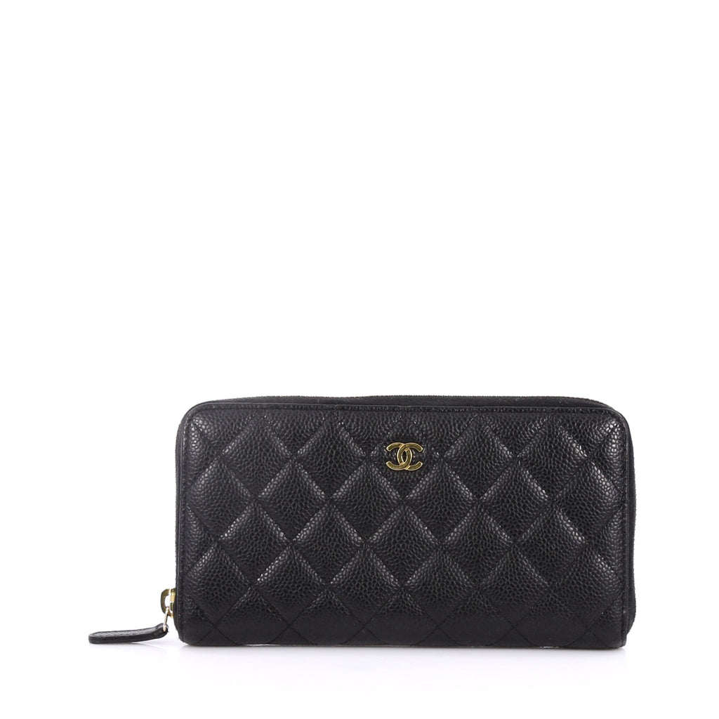 5ad20a842c08 Buy Chanel Zip Around Wallet Quilted Caviar Long Black 2213301 – Rebag