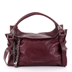 Burberry Ashmore Tote Leather Large Red 2216402