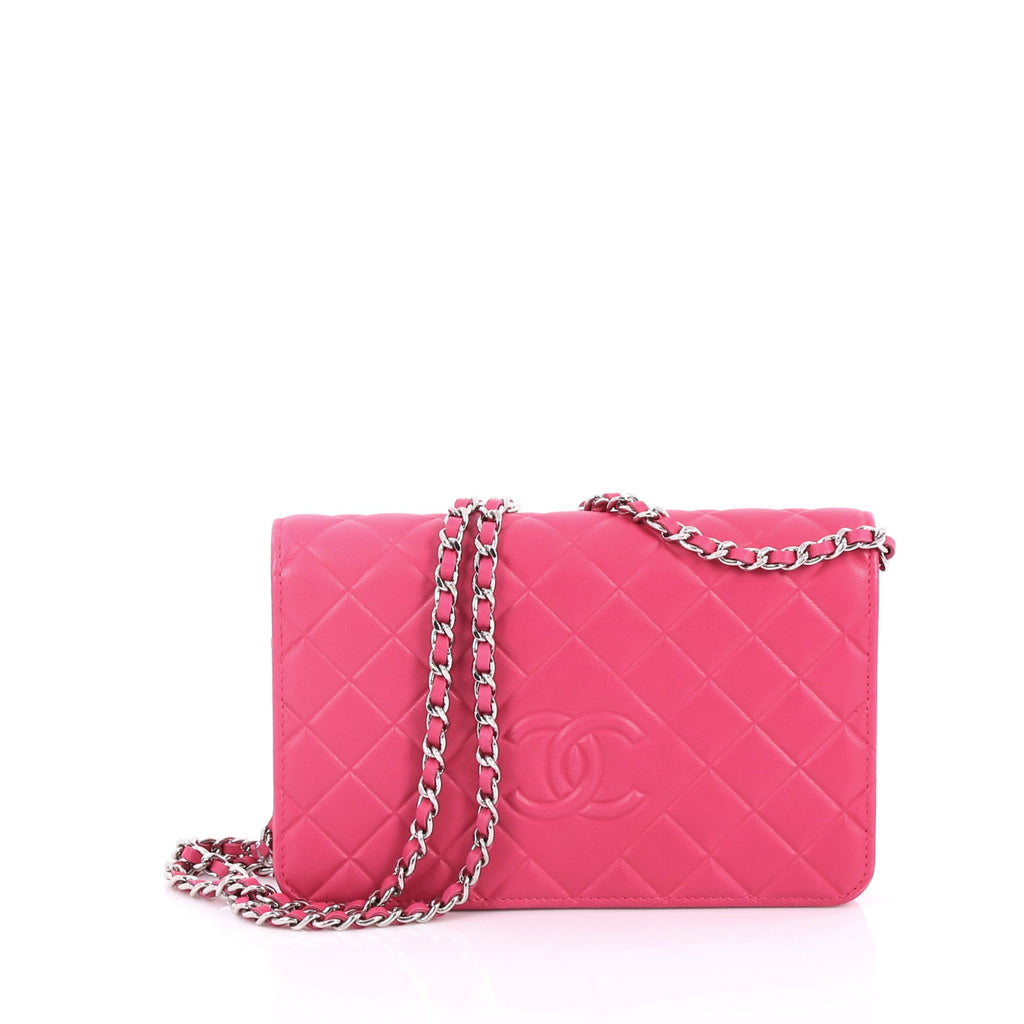 fde5653aff8e Buy Chanel Diamond CC Wallet on Chain Quilted Lambskin Pink 2219805 ...