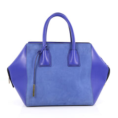 Stella McCartney Cavendish Boston Bag Faux Suede and Blue 2221101