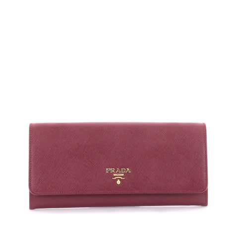 6e1c14bab198 Buy Prada Wallet on Chain Saffiano Leather Red 2221801 – Rebag