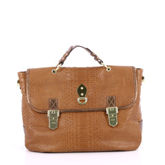 Mulberry Tillie Satchel Python Embossed Leather Medium 2222502