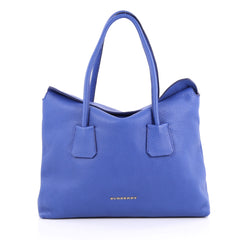 Burberry Baynard Tote Grainy Leather Blue 2222801