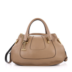 Chloe Hayley Satchel Leather Medium Brown 2227202