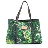 Louis Vuitton Ailleurs Cabas Limited Edition Printed Canvas PM Green