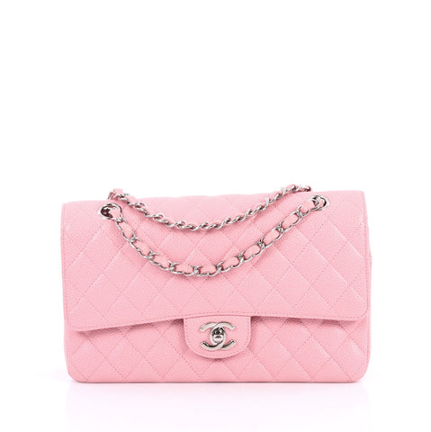 24548e2cde86 Buy Chanel Classic Double Flap Bag Quilted Caviar Medium 2228301 – Rebag
