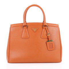 Prada Parabole Handbag Saffiano Leather Medium Orange 2228403