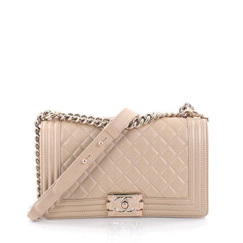 0a0d8f6ca98d Buy Chanel Boy Flap Bag Quilted Caviar Old Medium Neutral 2235901 – Rebag