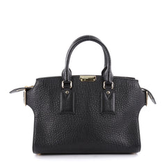 Burberry Clifton Convertible Tote Heritage Grained Leather Medium Black 2237301