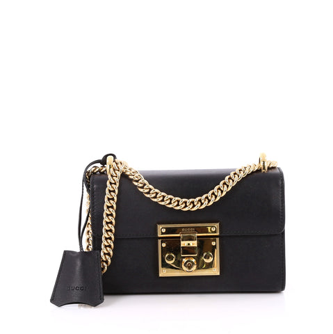 3629675afe Buy Gucci Padlock Shoulder Bag Leather Small Black 2240501 – Rebag