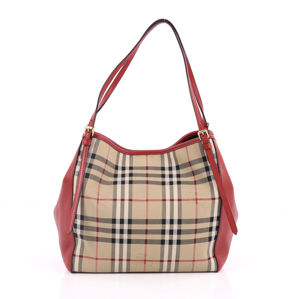 056ca3a961e0 Buy Burberry Canterbury Tote Horseferry Check Canvas and 2240603 – Rebag