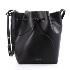 Mansur Gavriel Bucket Bag Leather Large Black 2244001