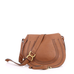 Chloe Marcie Crossbody Bag Leather Medium Brown 2246502