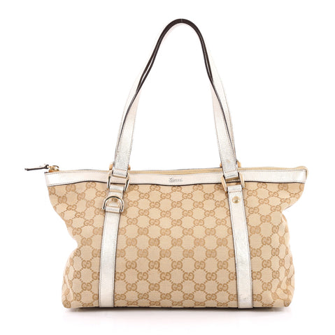 be753c7d952 Buy Gucci Abbey Tote GG Canvas Medium Neutral 2249801 – Rebag
